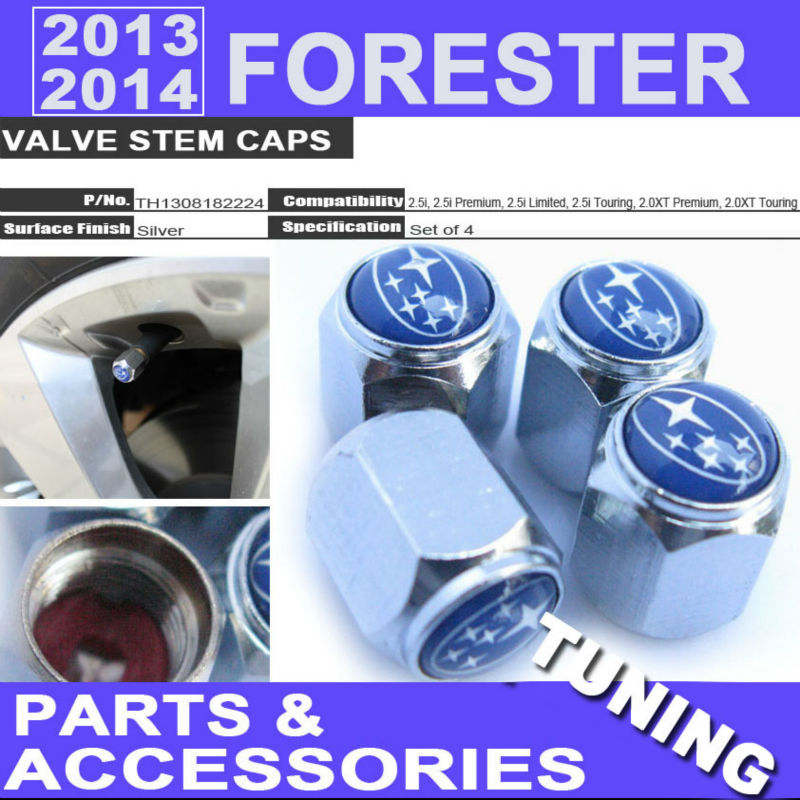 2013 2014 Forester Valve Stem Caps For Subaru All Submodels 2.5i 2.5i Premiun 2.5i Limited 2.5i Touring 2.0XT Touring 2.0XT Pr..