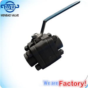China manufacture 3pc high pressure floating ball valve /Forged 3PC Carbon Steel Ball Valves Threaded Ends 3000PSI Ball Valve