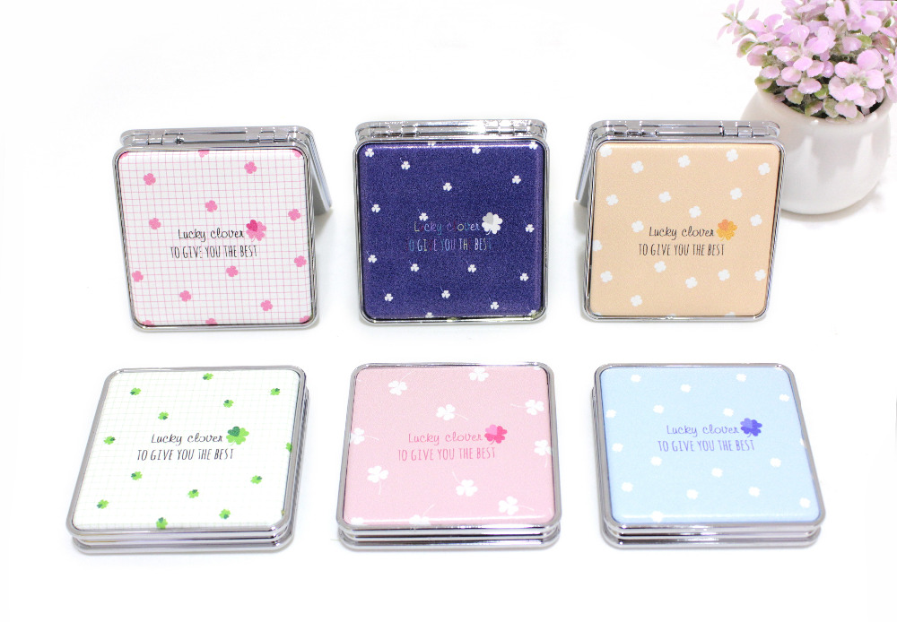 Beautiful wedding favors gift square leather pocket mirror, MF5011