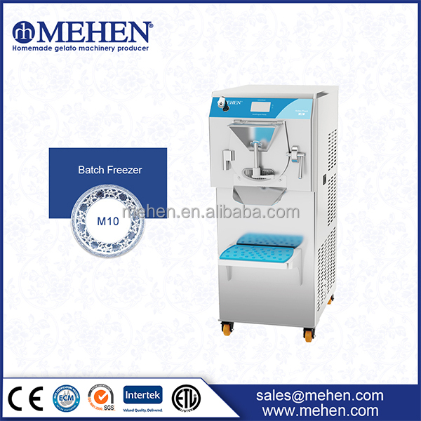 Batch Freezer / Hard Ice Cream Machine (PLC touchcreen, multi working mode & language