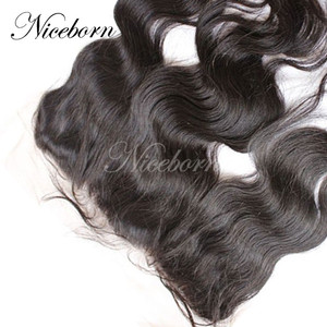 "Virgin Brazilian Hair Lace Frontal 13x4"" Bleached Knots Frontal Piece Ear to Ear Lace Closure Natural Wave"