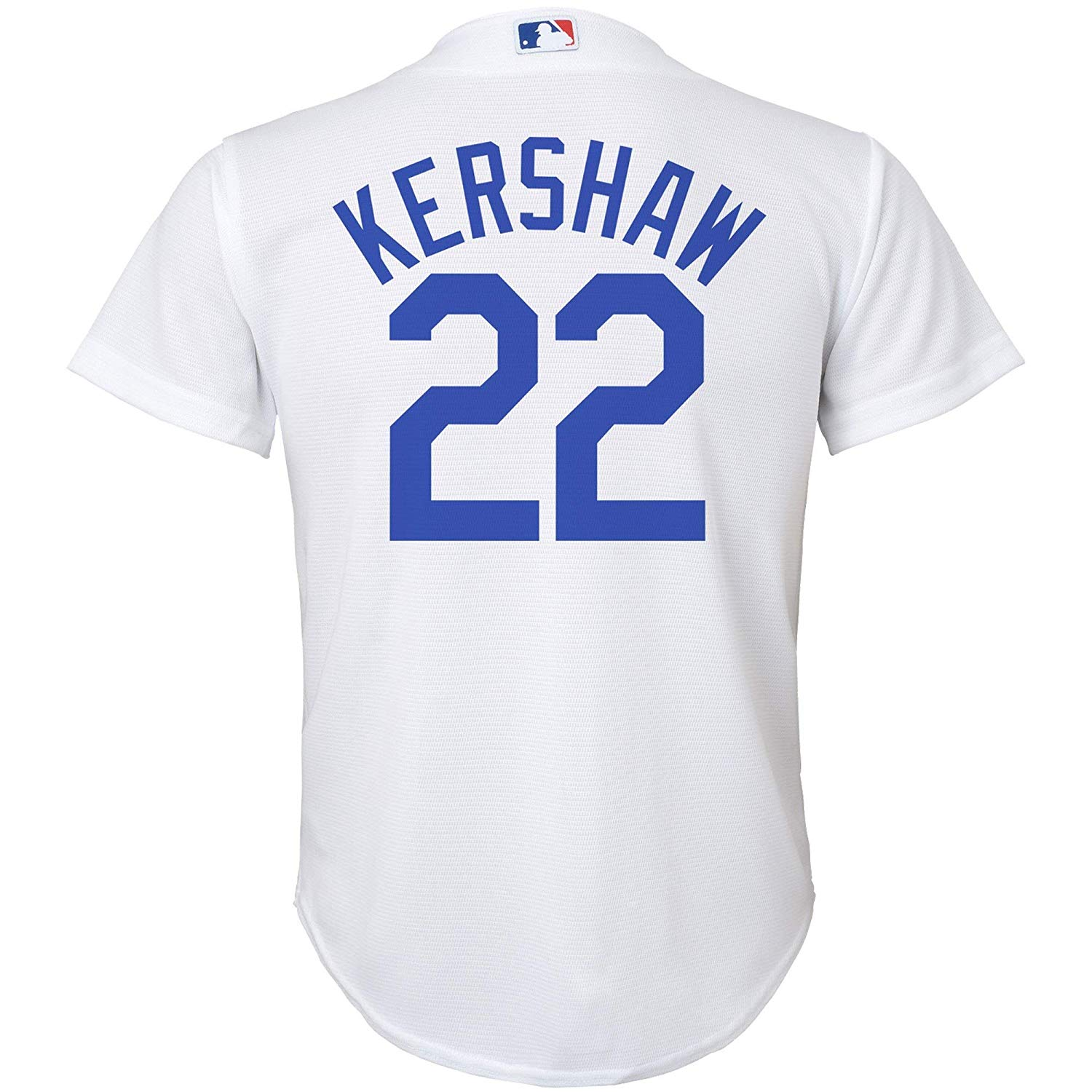 a7bce1f8cc2 Get Quotations · Clayton Kershaw Los Angeles Dodgers White Kids Cool Base  Home Jersey