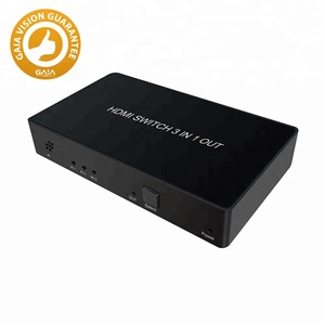 2.0V 4Kx2K HDMI Switch 3x1 with IR remote and Panel button control, Support HDR, 4:4:4, 4k@60Hz 3D for blue ray DVD player