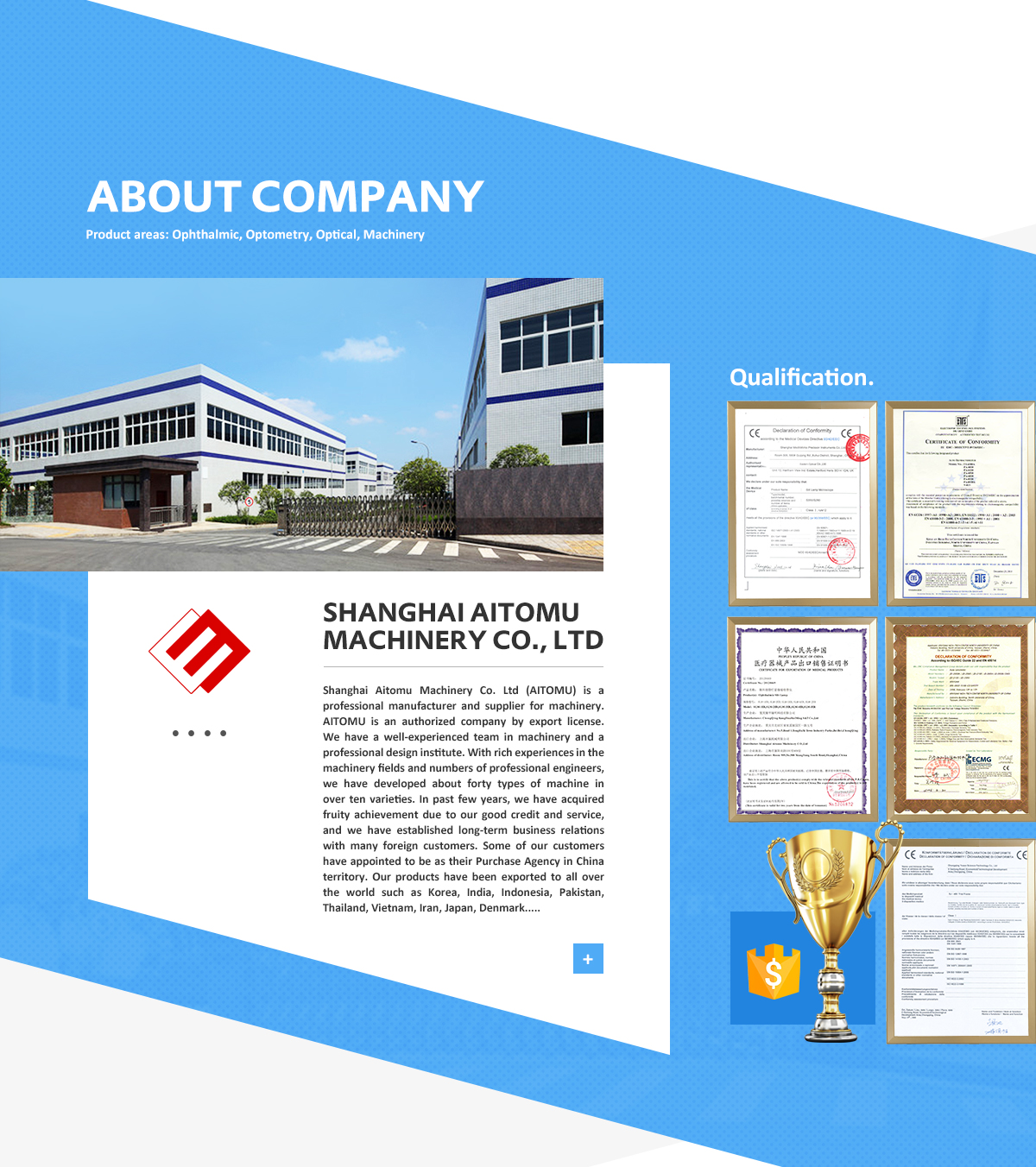 Shanghai Aitomu Machinery Co , Ltd  - Ophthalmic Equipment, Auto