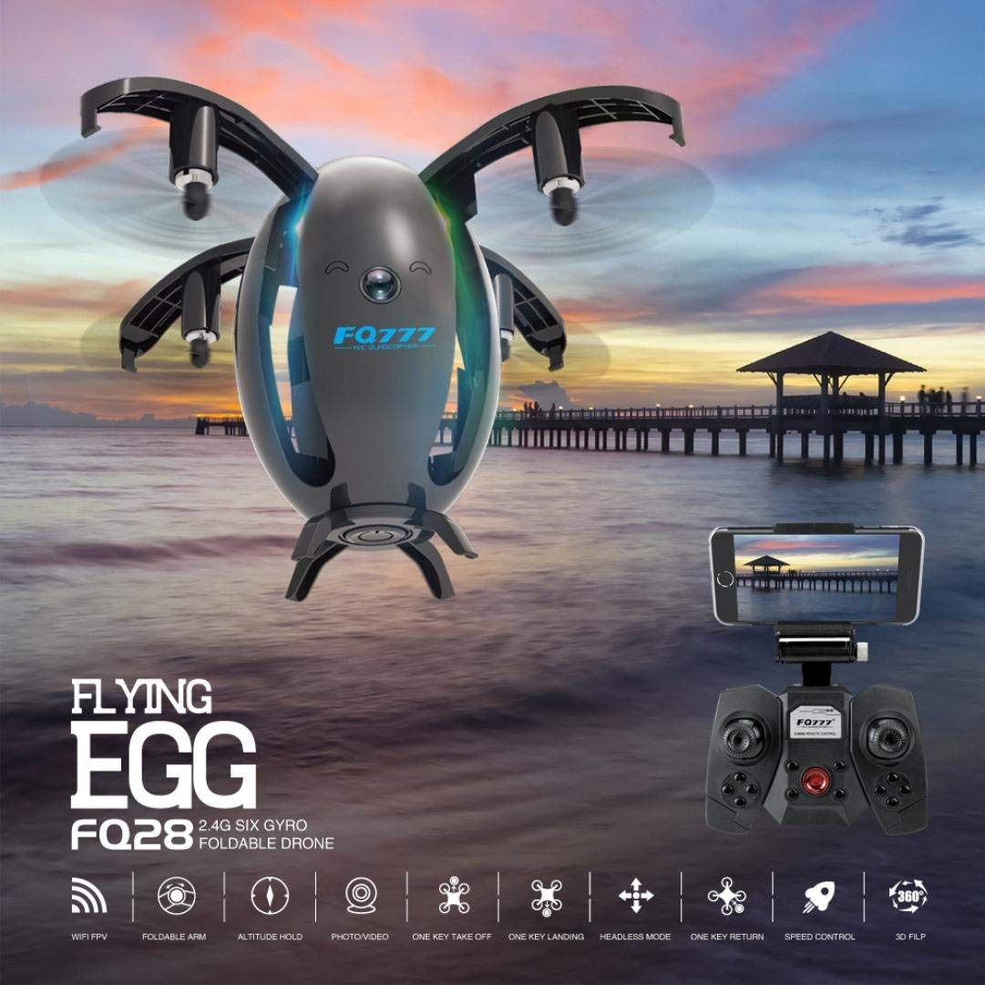 Nacome Transformable Egg Flying Machine 2.4GHZ 4CH 6-Axis Gyro RC Quadcopter Folding Transformable Egg Drone RTF