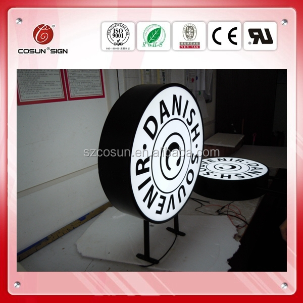 Outdoor wall mounted Led acrylic silk screen vacuum forming light boxes for beer