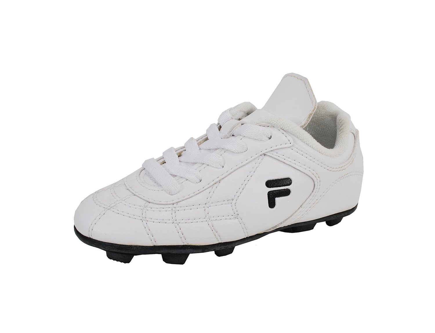1378bf44c Get Quotations · Fila Boy s Calcio III Soccer Cleats White Black Athletic  Shoes FW03693