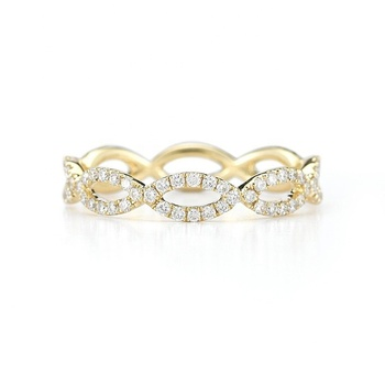 9f63304d4059 Micro pavimenta joyas de diamantes al por mayor de Plata de Ley 925 anillo  infinito