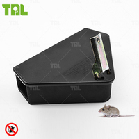 Black Rodent Control Mouse Bait Station Rodent Trap (TLMBS0204)