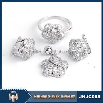 c4733dc8e China Wholesale Cubic Zirconia 925 Silver Beautiful Jewelry Set ...