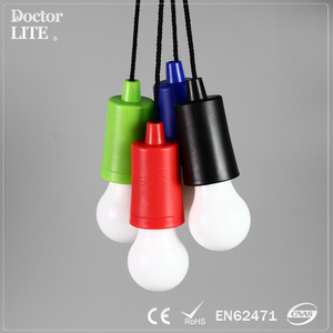 Cheap wholesale high quality Portable hanging camping home bright color tent String Pull light
