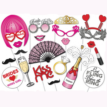 Hen Party Wedding Decoration Bride Bachelorette Party Supplies Photo Booth Props