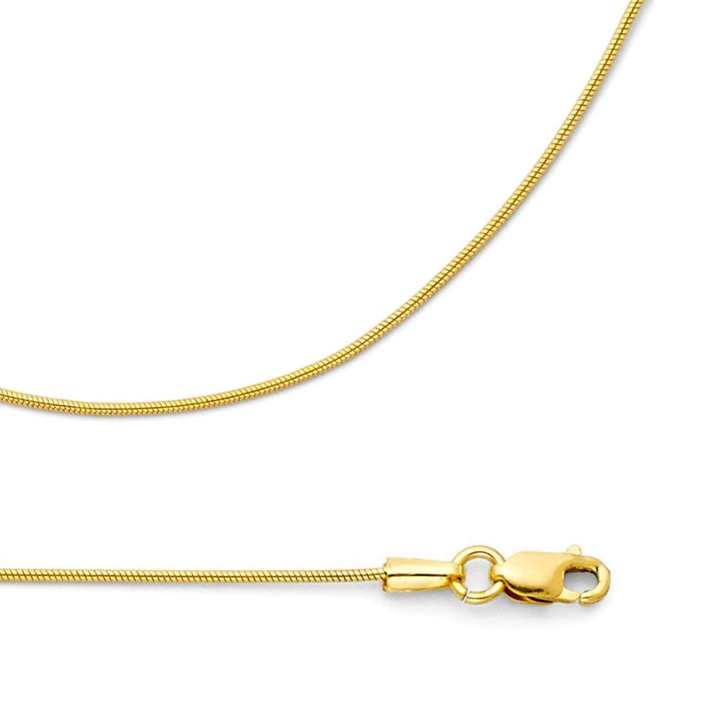 """Cable Link Women Men 14K Solid Yellow Gold Rolo Necklace Chain 1.3mm 16-24/"""""""