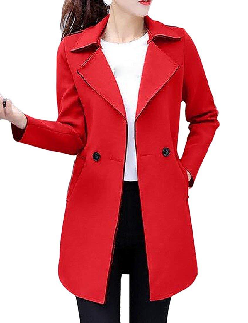 b93a4366298 Get Quotations · Comfy Women's Tuxedo Blazer Slim Fitting Long Sleeve Solid  Blazer