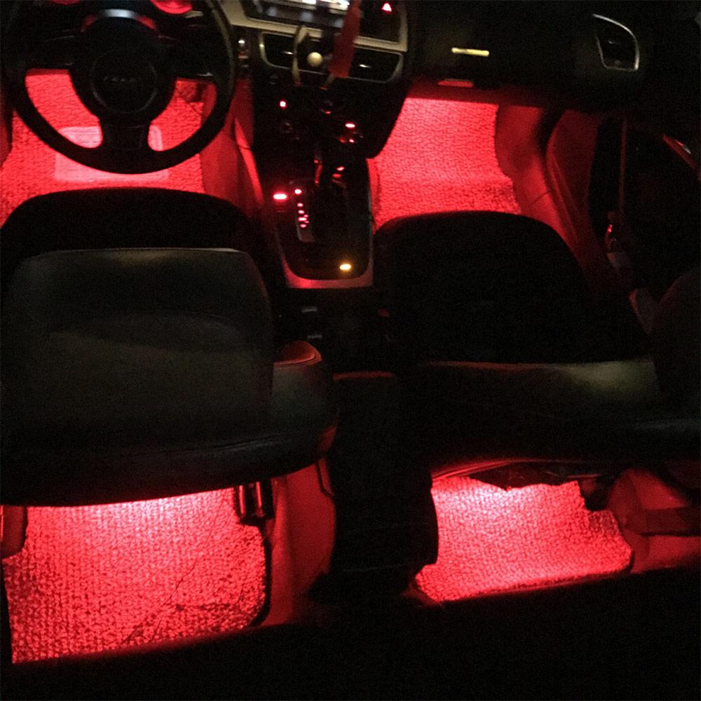 कार आंतरिक वातावरण नीयन 5050 आरजीबी एसएमडी 9 रोशनी पट्टी का नेतृत्व किया