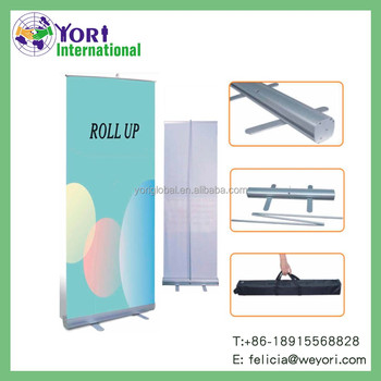 Yori aluminum directly selling advertising equipment roll up banner stand
