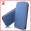 Blue Fashion Vertical Magnet Protective Leather Flip Case for Samsung Galaxy S4