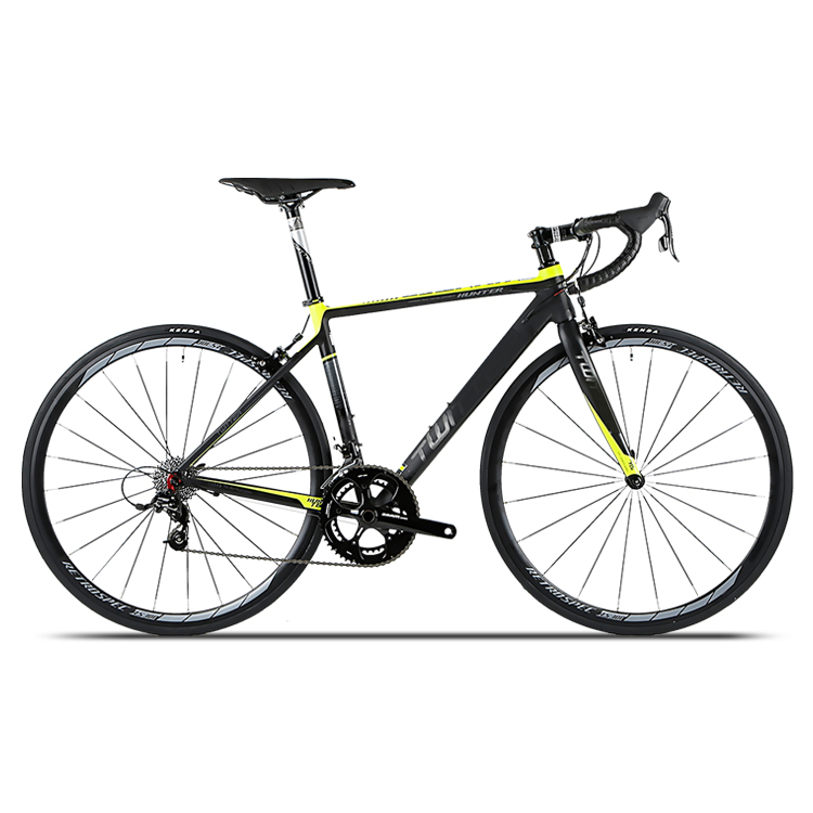 Chinese supplier cheap HUNTER 18 speed aluminum road bike with carbon fork road bikes, Blackred / blackgray / blackyellow / blackwhite