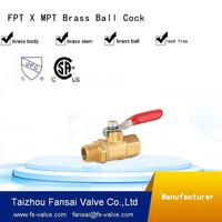 good quality npt mini brass Male and Female Threaded Ball Valve for water air oil and gas