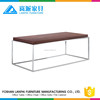 polished stainless steel frame coffee table