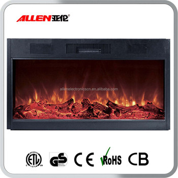 Built In Or Wall Mounted Decor Flame Effect Electric Fireplace Heater No Heat