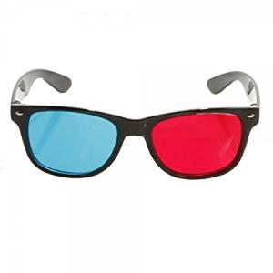 GOTOBUYWORLD Full Frame Stereo 3D Glasses for 3D Movies TV Game Red + Blue 802