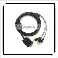 For PC VGA To TV 3 RCA Component AV adapter Cable 3 FT