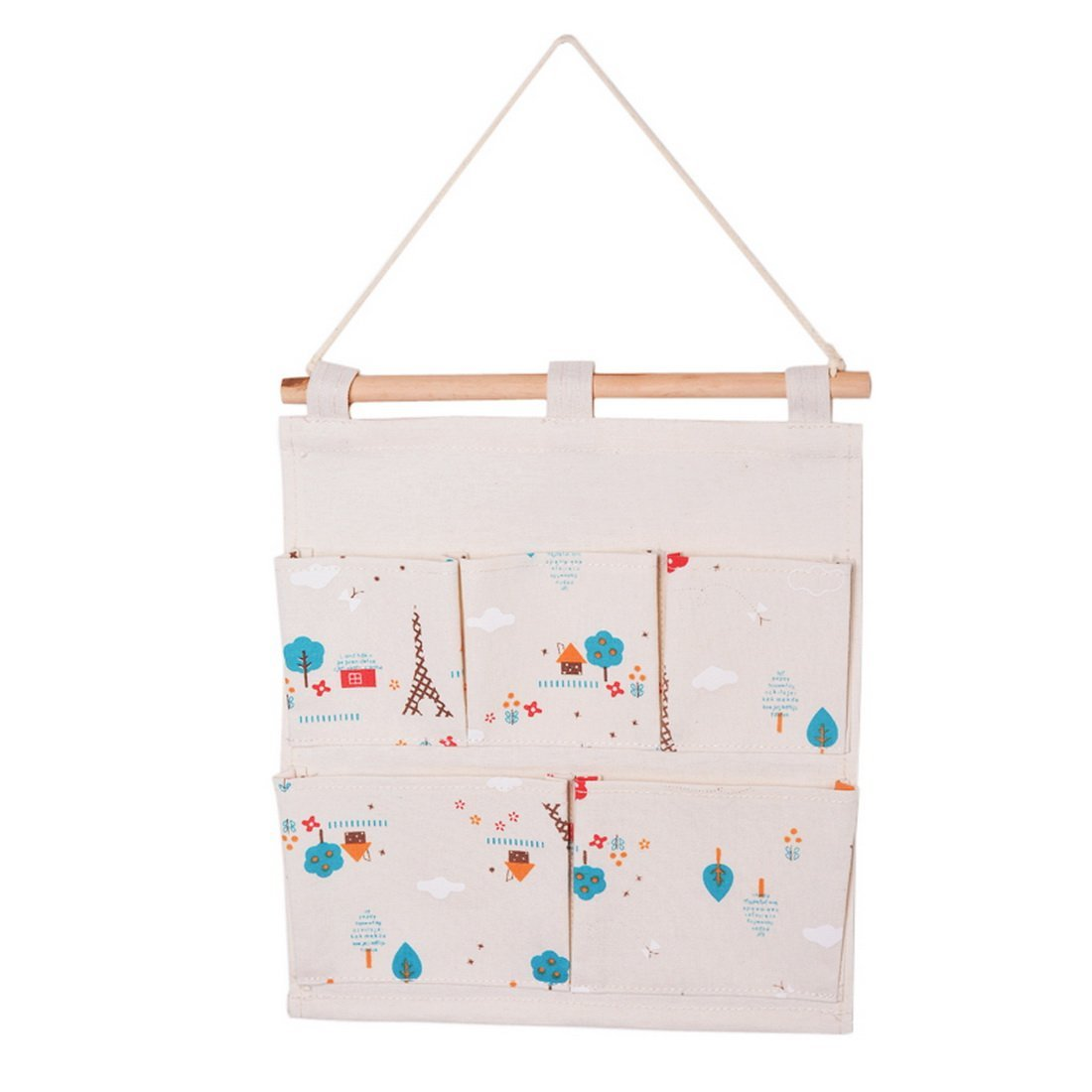 Youyouchard Over The Door Storage Pockets Cotton And Linen