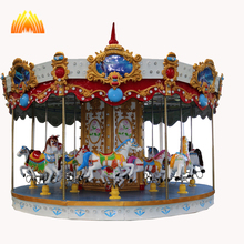 Supermarket first choice for kids amusement ride carousel horse