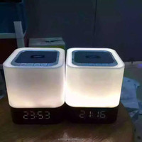DY28 Portable Wireless Bluetooth Speaker Stereo With Touch LED Lamp (Dimmable 3 Brightness)Alarm Clock