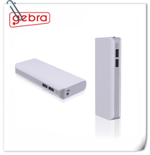 Business travel model dual usb power bank 10000mah with LED Light connector