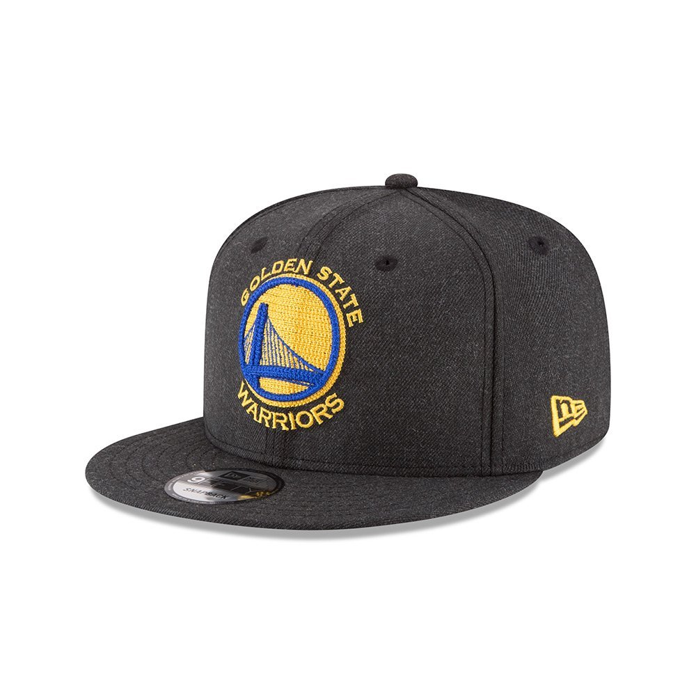separation shoes 0e954 1b0b0 New Era Golden State Warriors Heather Crisp Snapback Hat (Black)