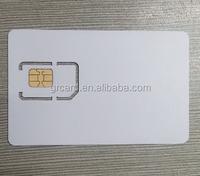 plastic pvc bulk sim card for gsm network cell phone