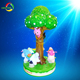 3players carousel kiddie ride coin operated game machine for sales