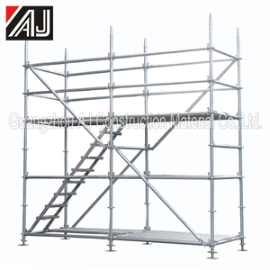 China galvanized painted metal building construction scaffold ringlock
