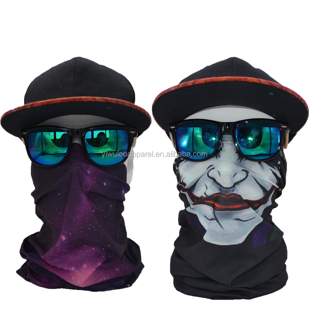 Seamless tube mask 2017 Unisex Colorful Skeleton ski Headwear Bandanas
