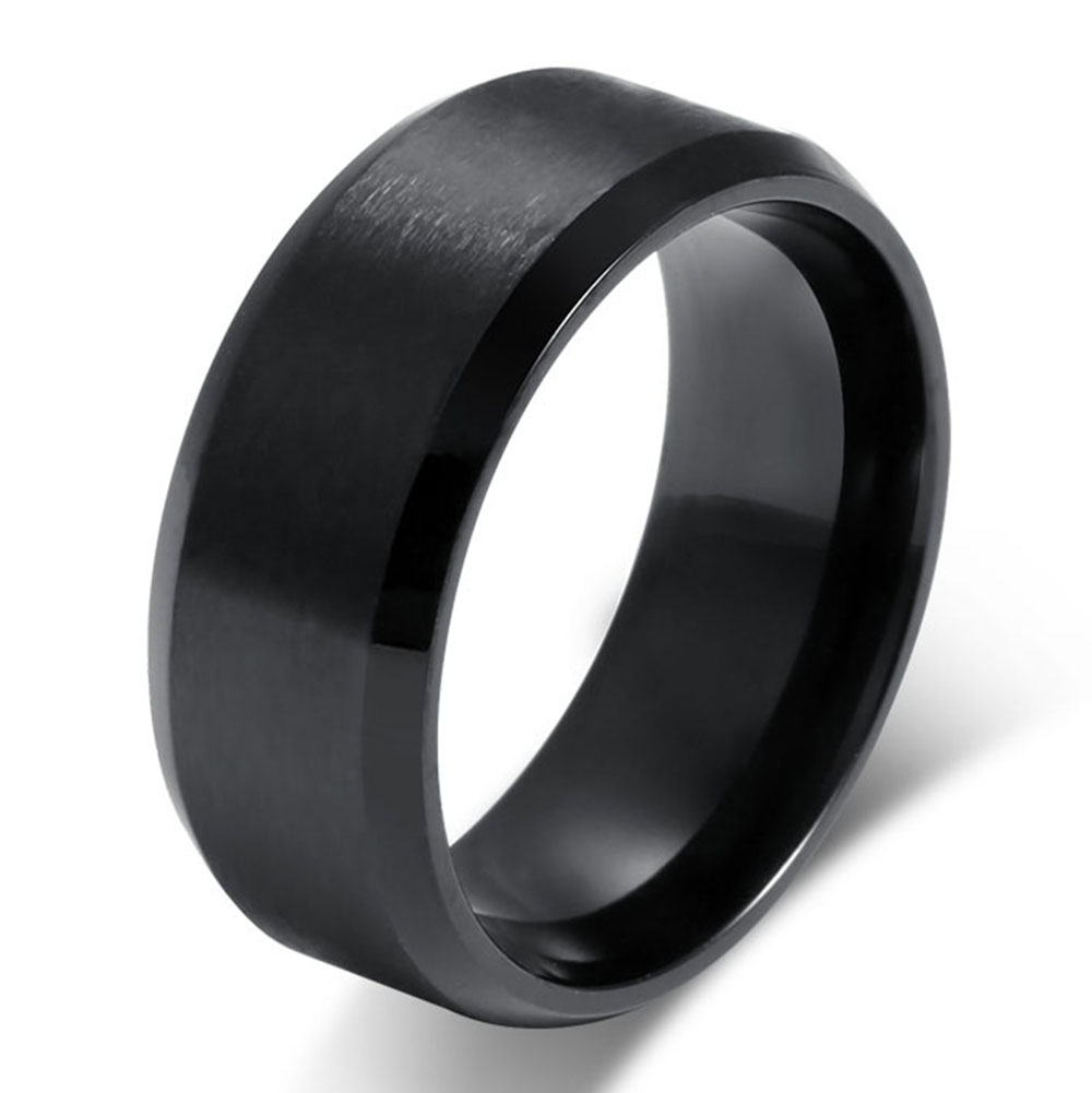 Fashion Simple Ring For Men 316l Stainless Steel Jewelry
