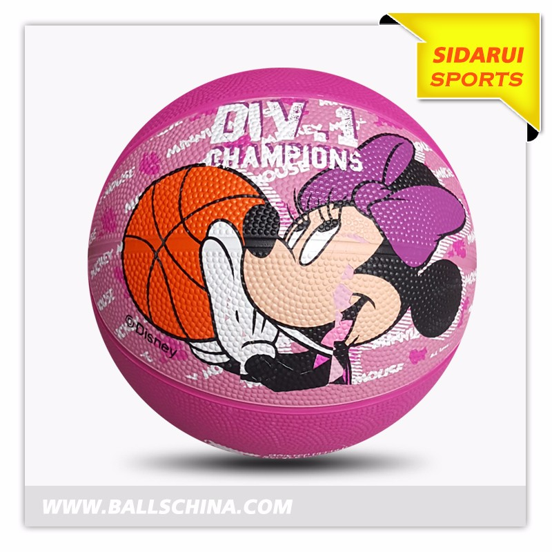 Cheap custom printed logo mini rubber toy basketball for kids