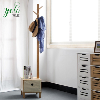 Enjoyable Bamboo Wood Coat Hanger Rack With Storage Bench Buy Bamboo Wood Coat Hanger Rack Movable Coat Racks Hangers Racks Clothes Tree Hanger Coat Rack Pabps2019 Chair Design Images Pabps2019Com