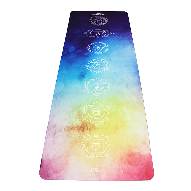 Factory supply cheap good material anti slip custom suede yoga mat
