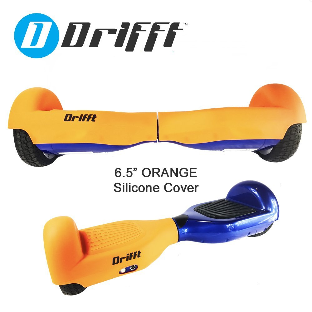 """Drifft 6.5"""" Orange Hoverboard Silicone Jelly Case Protective Cover for Classic Self Balance Scooter"""