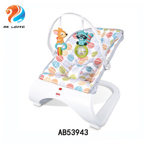 Infant to toddler's musical baby rocker with vibration