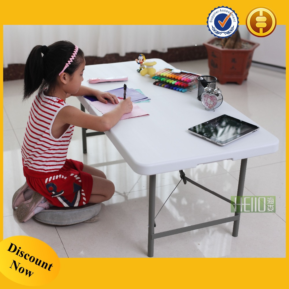 china factory blow mold waterproof rectangle plastic children table