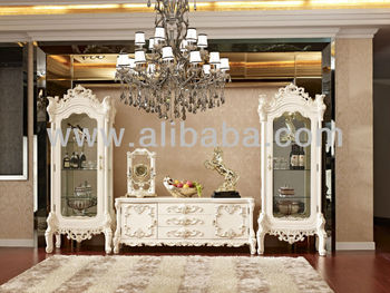 Graceful Tv Cabinet With Showcase Luxury European Style Living ...