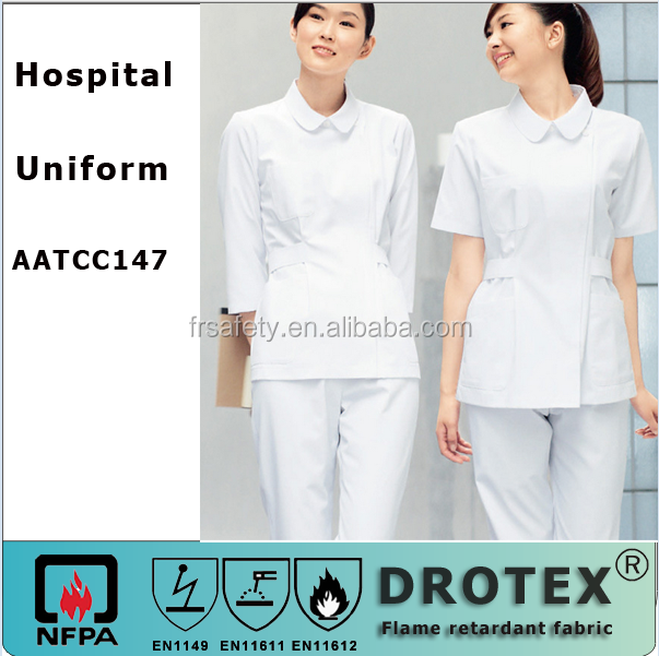 AATCC147 DROTEX NEW STYLE hospital surgical anti-bacterial and wrinkle treament ladies' medical scrub uniform