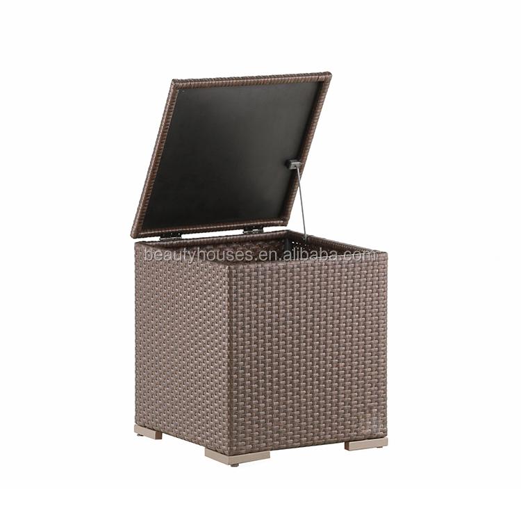R7012 Patio PE Rattan Box Outdoor Garden Storage Cube Cushion Box
