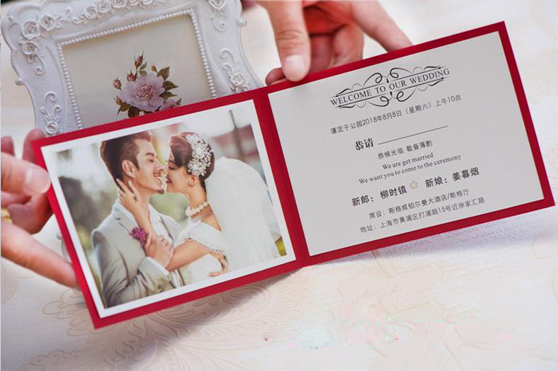 नई डिजाइन फैक्टरी प्रत्यक्ष बिक्री लेजर कट शादी के कार्ड निमंत्रण उच्च गुणवत्ता शादी के कार्ड थोक