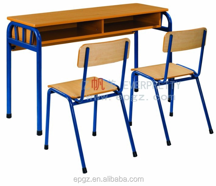 China School Furniture School House Double Desk and Chair