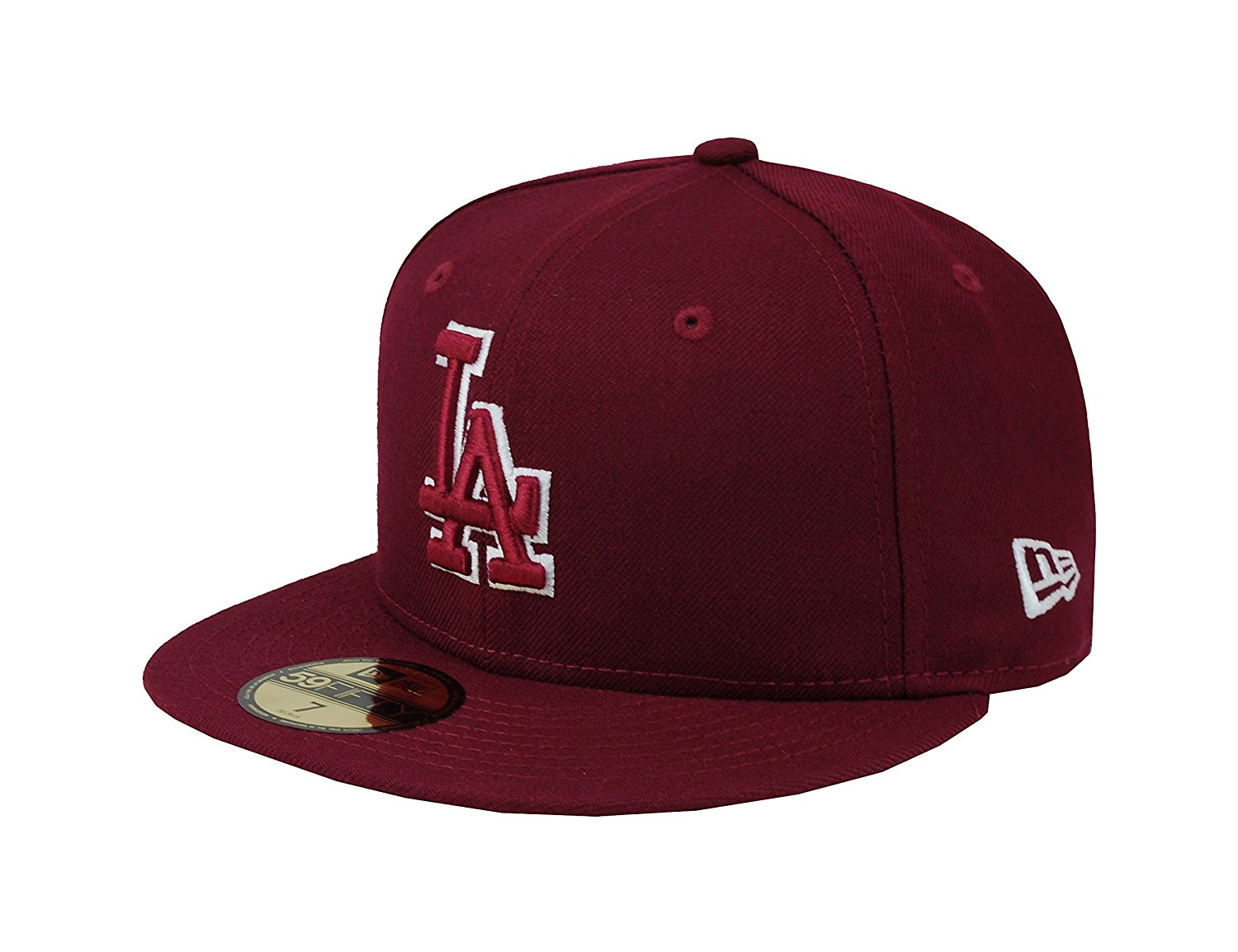 Get Quotations · New Era 59Fifty Men s Hat Los Angeles Dodgers Burgundy  Fitted Headwear Cap c52486097378