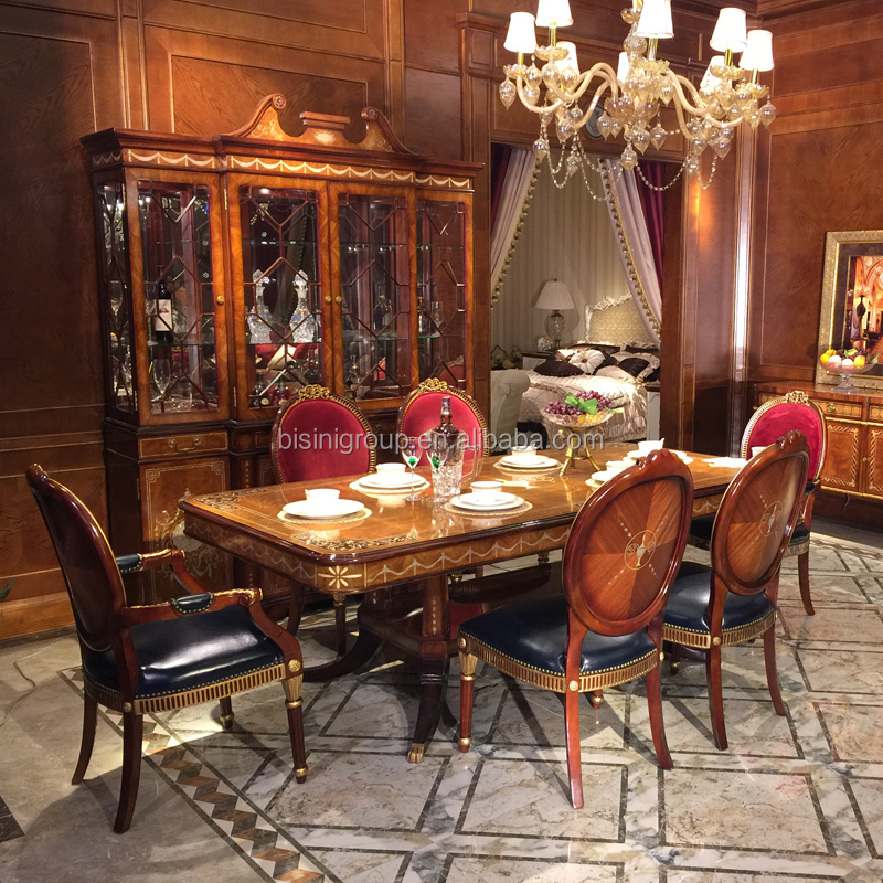 Anime Royal Dining Room: Luxurious Royal English Victorian Style Wood Carving